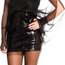 Coutori Junior's Black Strapless Sequin Tool Mini Dress Sizes S M L