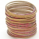 Amrita Singh Sartaj Fuschia 36 Piece Bangle Set Lot Size 8 NEW $120 PB118