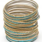 Amrita Singh Sartaj Turquoise 36 Piece Bangle Set Lot Size 8 NEW $120 PB118