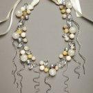 Celeste Michelle Cluster & Fringe Statement Necklace NEW MSRP $88