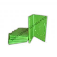 14mm DVD Case Single Green 25pcs/pack