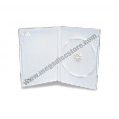 14mm DVD Case Single White 25pcs/pack
