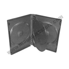 27mm DVD Case 4-in-1 Black 10pcs/pack