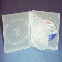 27mm DVD Case 4-in-1 Translucent White 10 Pack