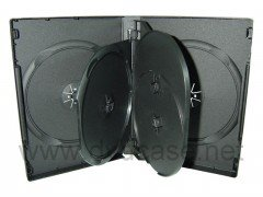 27MM DVD CASE 5-IN-1 BLACK 10pcs/pack