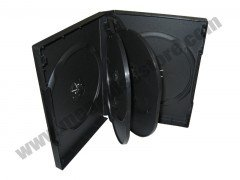 27mm DVD Case 6-in-1 Black 10 pcs/Pack