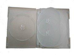 27MM DVD CASE 6-IN-1 SEMI-CLEAR 10pcs/pack