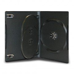 14MM DVD CASE 3-IN-1 BLACK 20pcs/pack