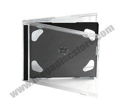 10.4mm Jewel Case Double Black 50 Pcs/Pack