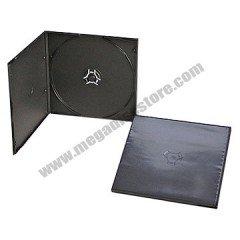 5.2mm Poly CD Case Single Black 50 Pack
