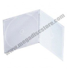 5.2mm Poly CD Case Single Frosty 50 Pack