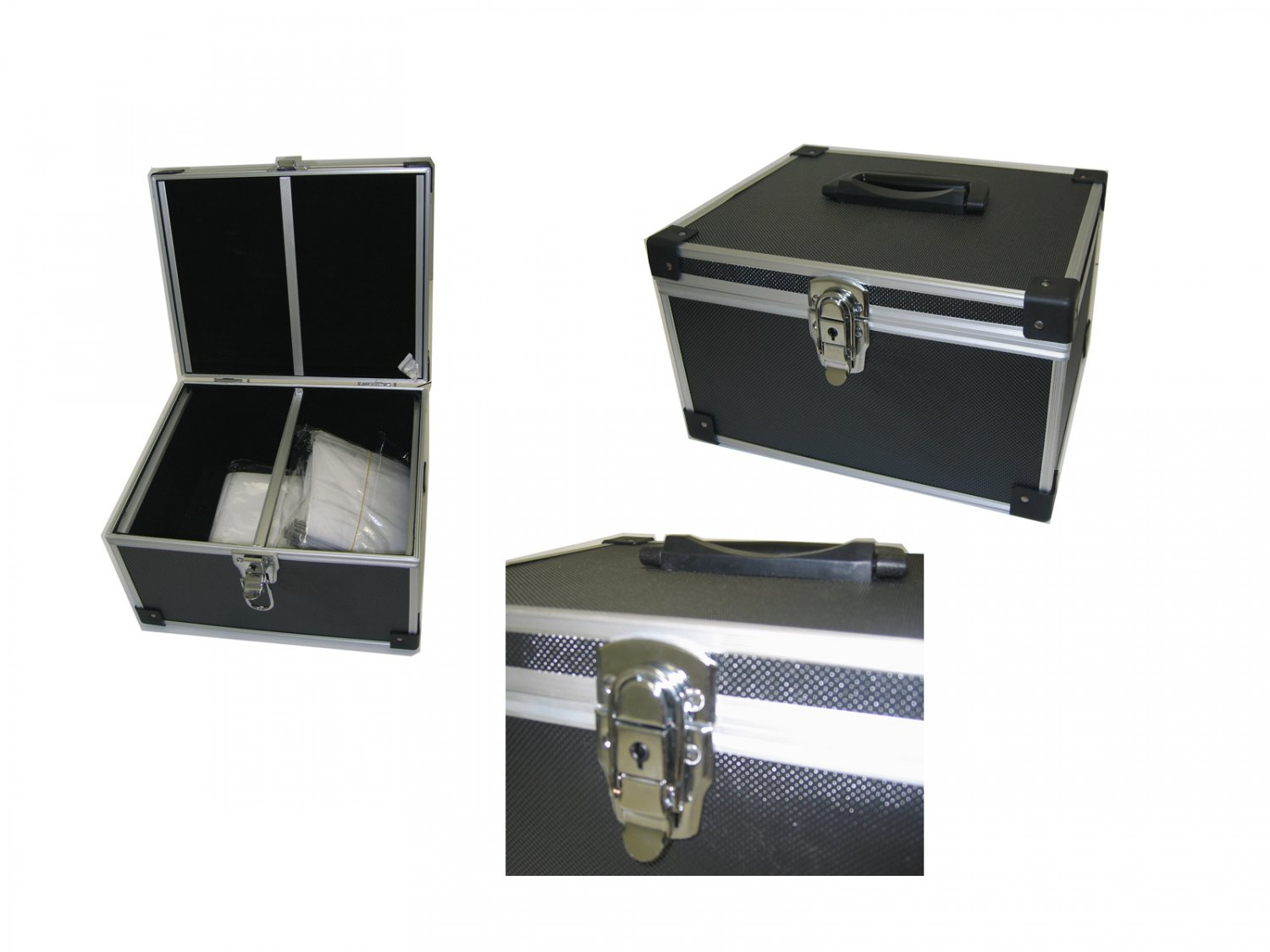 300 CD DVD Premium Aluminum Storage Carrying Case Holder Box Black Free Shipping