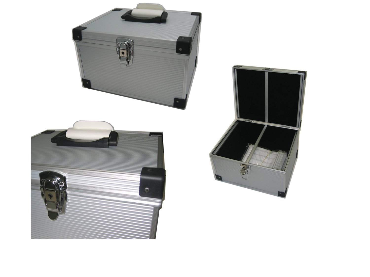300 CD DVD Premium Aluminum Storage Carrying Case Holder Box Silver Free Shipping