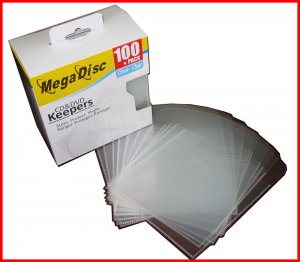MEGADISC CD/DVD Disc Keeper Clear 500 PK (SAME MEMOREX QUALITY) USA and CANADA