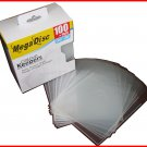 MEGADISC CD DVD Disc Keeper Clear 100 PK (SAME MEMOREX QUALITY) Free Shipping