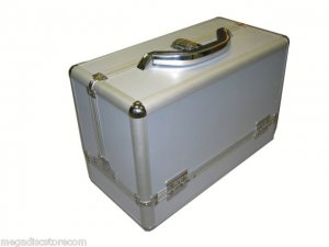 Silver Makeup Train Case All Purpose Cosmetic Organizers Ship to Canada and USA