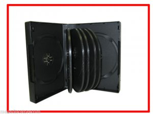 39mm DVD CD Movie Game Case Black Multi 12 Discs with Flip 6 Pk Canada n USA