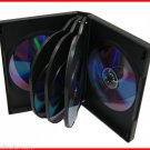 27mm Full Size 8 Tray DVD Movie Game Case Black Multi 8 Disc 20 Pk Canada n USA