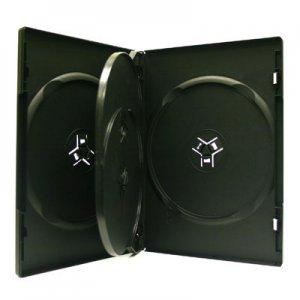 14mm Quad DVD CD Movie Game Case Black Multi 4 Disc with Flip 18 Pk Canada n USA