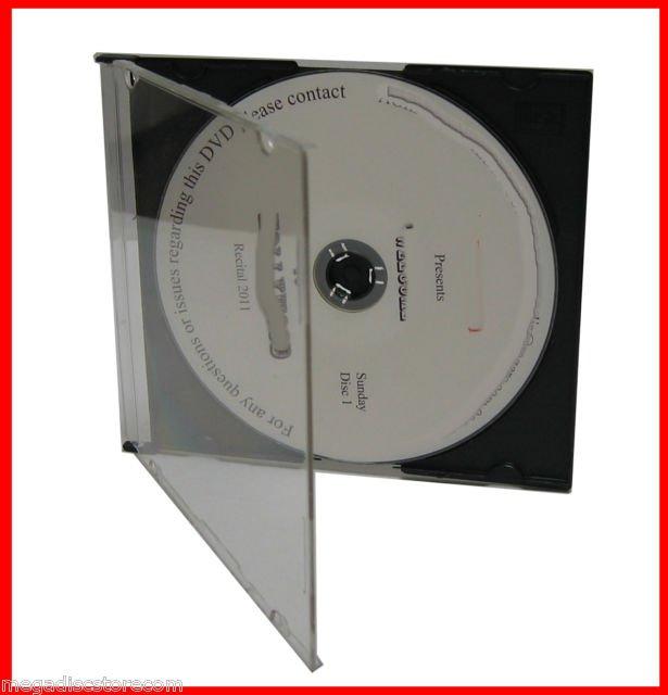 5.2mm Single CD Slim Jewel Case W Black Tray 50 Pk Maxi Case CANADA n USA