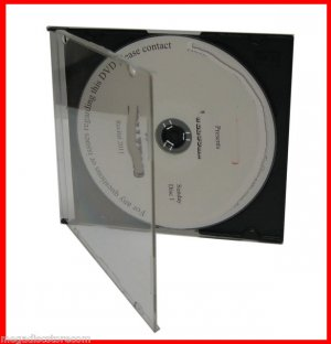 5.2mm Single CD Slim Jewel Case W Black Tray 50 Pk Maxi Case CANADA n USA