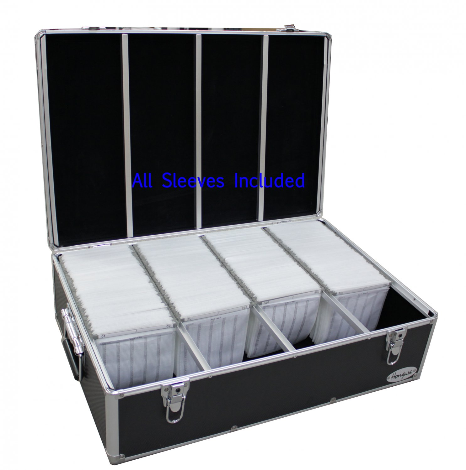 1000 CD DVD PREMIUM ALUMINUM STORAGE CARRYING CASE BOX BLACK FREE SHIPPING