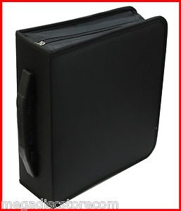 240 CD DVD DISC STORAGE WALLET HOLDER CARRY CASE SLEEVE BLACK