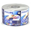 50 Pk Philips Brand 52X 80MIN 700MB Blank CD CD-R CDR Media For Music Data Photo