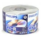 50 Pk Philips Brand 52X 80MIN 700MB Blank CD CD-R CDR Media For Music Data Photo