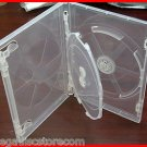 12 Pack Viva Premium Clear Triple 3 DVD Cases Boxes 14mm Three Disc Holders