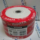 50 Pk Ridata Ritek 52X 80MIN 700MB Blank CD CDR Media White Inkjet Hub Printable