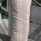 Long pink pastel stripe pillow