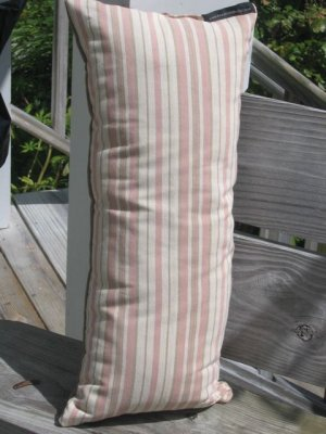 Long pink pastel stripe pillow
