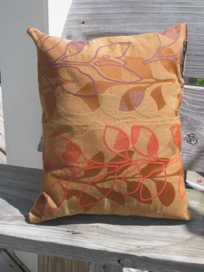 autumnal flower pillow