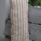 Red n beige striped pillow