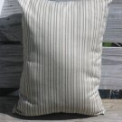 Skinny striped pale blue, beige, brown pillow