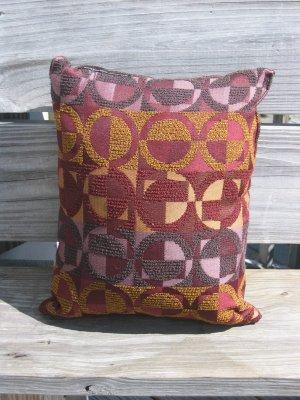Purple, lilac, bronze circle pillow