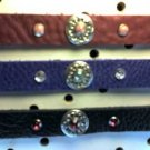 Purple Leather Choke Collar