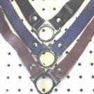 Purple Leather Slave Collar