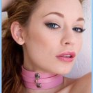Pink Bound Leather Collar