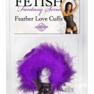 Feather Love Cuffs - Purple