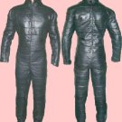 Leather Exotic Motorbike Ride Zipper Men Catsuit