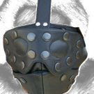 Leather Snapon Blind Fold Mask/Hood