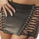 Leather Fetish Laced Skirt - Small