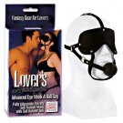 Lover's Headgear Advanced Mask With Gag - Black