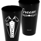 Groom Pint Glass - Black
