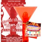 5 Martini Weenie Light Up Party Glass