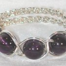 Beaded Braided Cock Circlet 5 - Amethyst