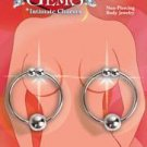 Precious Gems Nipple Rings - Silver