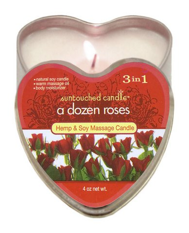 Edible A Dozen Roses Candle 4 oz